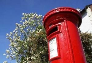 Royal Mail red pillar box