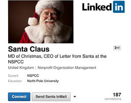 NSPCC joins LinkedIn for Xmas ad