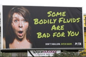 Peta defends 'bodily fluids' ad campaign