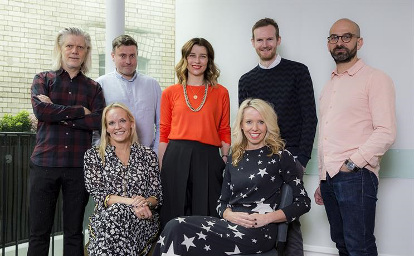 Wunderman Thompson: (clockwise) Aldridge, Steward, Muir, Curran, Dunn, Hulbert and Forster