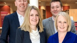 L-r: Giles Hicks (Synergy), Nicky Clark (Synergy), Andy Jones (McCann), and Gemma McGrattan (Synergy)