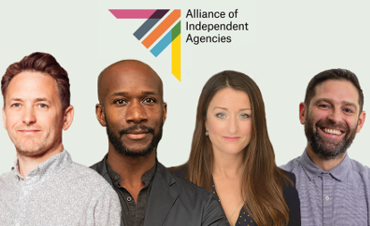 New team at the Alliance of Independent Agencies (l-r): Sullivan, Myers-Lamptey, Kieran and Parkes